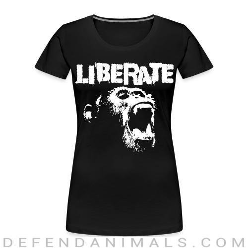 Liberate - Animal Rights Activism Women Organic T-shirt