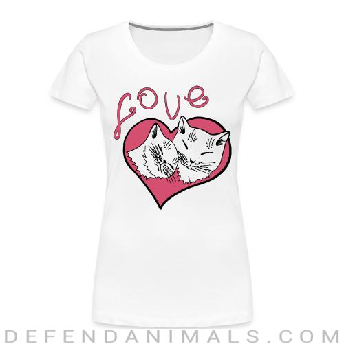 Love cat  - Cats Lovers Women Organic T-shirt