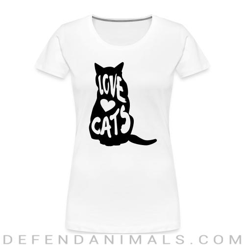 Love cats  - Cats Lovers Women Organic T-shirt