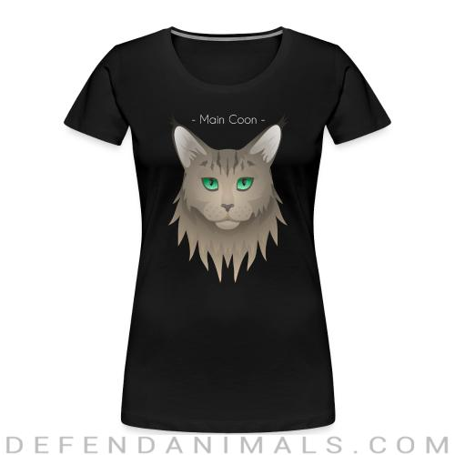 Maine Coon Cat - Cat Breeds Women Organic T-shirt