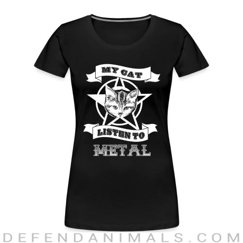 My cat lisent to metal  - Cats Lovers Women Organic T-shirt