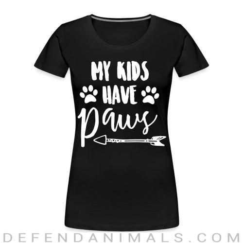 my kids have paws - Dogs Lovers Women Organic T-shirt