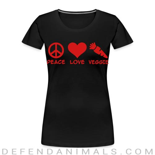 Peace love veggie  - Vegan Women Organic T-shirt