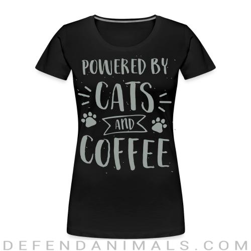 powered by cats and coffee  - Cats Lovers Women Organic T-shirt