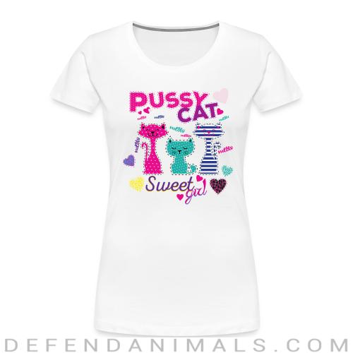 Pussy cat Sweet girl - Cats Lovers Women Organic T-shirt