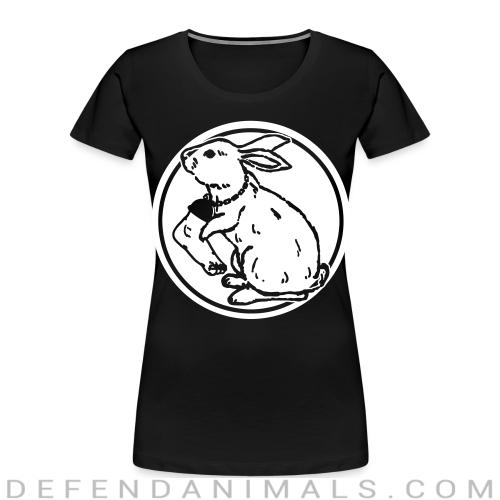 Rabbit foot  - Animal Rights Activism Women Organic T-shirt