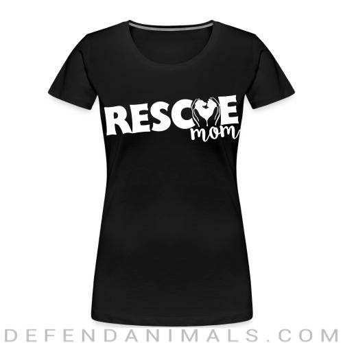 RESCUE mom   - Dogs Lovers Women Organic T-shirt