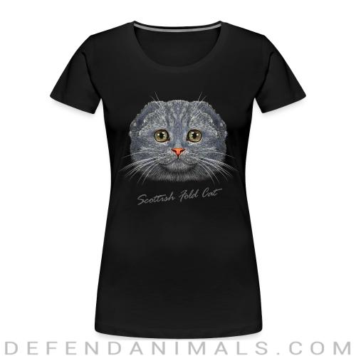 Scottish Fold Cat - Cat Breeds Women Organic T-shirt