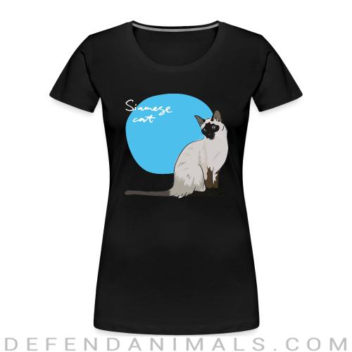 Siamese Cat - Cat Breeds Women Organic T-shirt