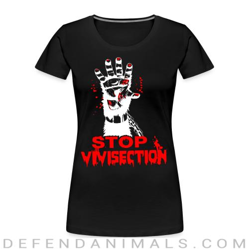 Stop vivisection - Animal Rights Activism Women Organic T-shirt