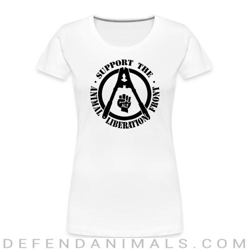 Support the Animal Liberation Front (ALF) - Animal Rights Activism Women Organic T-shirt