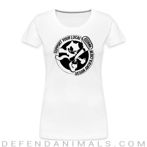 Support your local vegan antifa crew - Animal Rights Activism Women Organic T-shirt