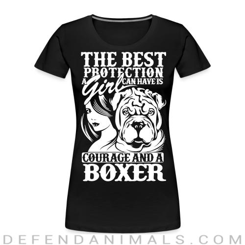 The best protection a girl can have is courage and a pitbull - Dog Breeds Women Organic T-shirt