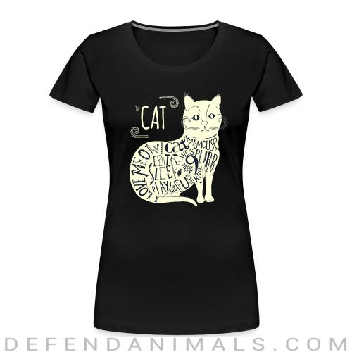 The cat - Cats Lovers Women Organic T-shirt