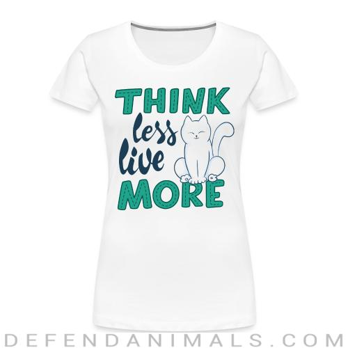 think less live moore  - Cats Lovers Women Organic T-shirt