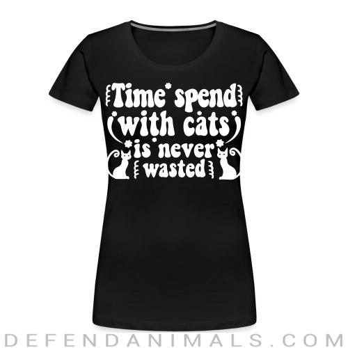 Time spend with cats is never wasted  - Cats Lovers Women Organic T-shirt