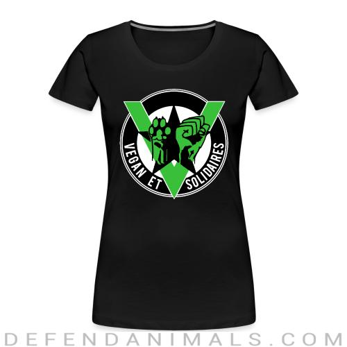 Vegan et solidaires - Vegan Women Organic T-shirt