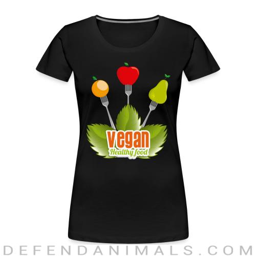 Vegan Healty food  - Vegan Women Organic T-shirt