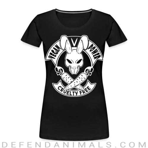 Vegan power! Cruelty free - Vegan Women Organic T-shirt