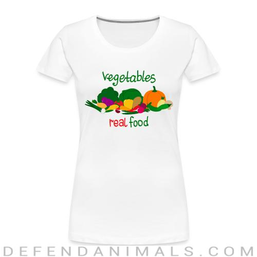 vegetable real food  - Vegan Women Organic T-shirt