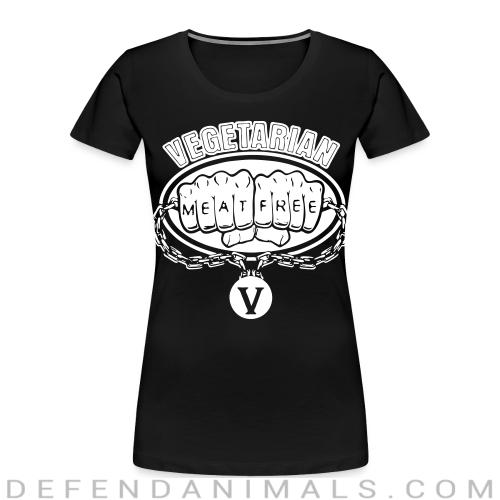 Vegetarian meat free - Vegan Women Organic T-shirt