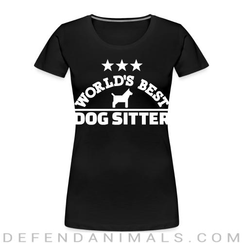 World best god sitter  - Dogs Lovers Women Organic T-shirt