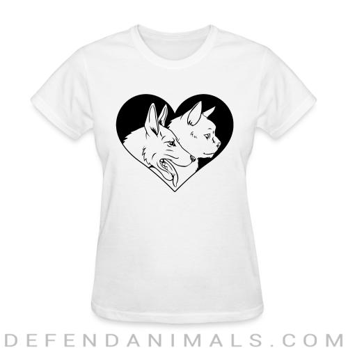 Cat and dog - Cats Lovers Women T-shirt