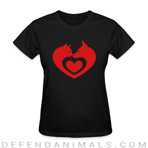 Cats and Dog  - Cats Lovers Women T-shirt