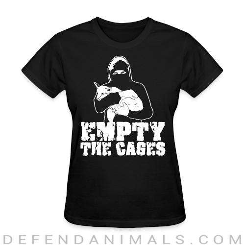 Empty the cages - Animal Rights Activism Women T-shirt