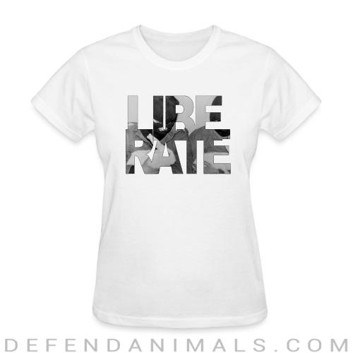 Liberate - Animal Rights Activism Women T-shirt