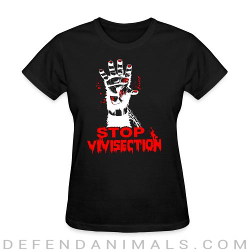 Stop vivisection - Animal Rights Activism Women T-shirt