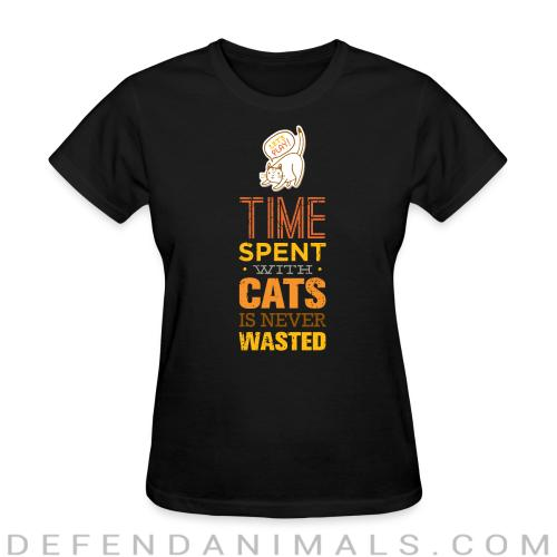 Time spent with cats is never wasted  - Cats Lovers Women T-shirt