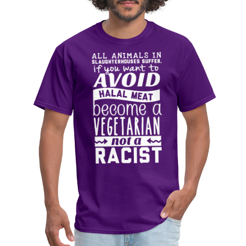 All animals in slaughterhouses suffer. If you want to avoid halal meat become a vegetarian not a racist