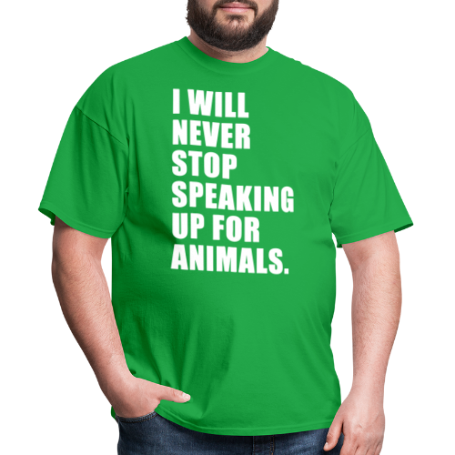 I will never stop speaking up for animals