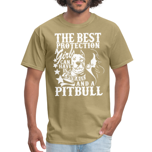 The best protection a girl can have is courage and pitbull
