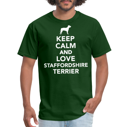Keep Calm and love staffordshire terrier